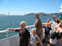 [Photo: Kids on the Ferry to San Francisco]