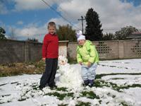 [Photo: Faythe and Esperanza - Snowman]