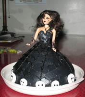 [Photo: Goth Birthday Cake - By Sarah]