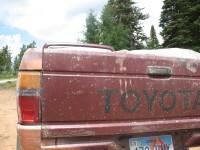 [Photo: Manti-La Sal; Skyline Drive, truck tail]