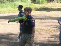[Photo: Faythe at Cub Scout Day Camp]